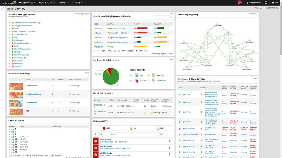 SolarWind Network Performance Monitor (NPM)